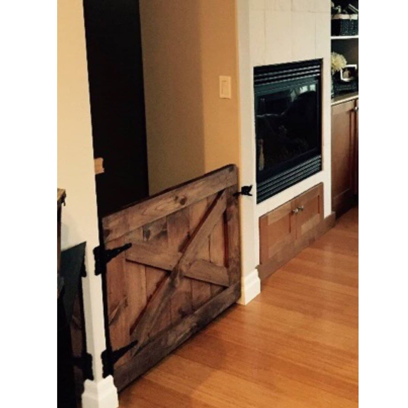?zoom  sc 1 st  Etsy & Custom Made Barn Door Style Baby Gate Walnut