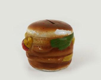 Vintage Hamburger Bank with Ladybug
