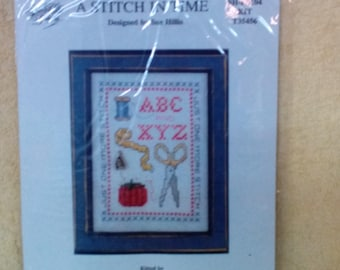 Kit-A Stitch in Time, Counted Cross Stitch, Discontinued Kit.