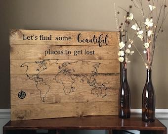 World Map Sign