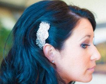 Vintage Inspired Wedding Bridal Crystal Side Hair Comb
