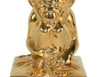 Rookwood Pottery 1983 Golden Monkey Paperweight 6426