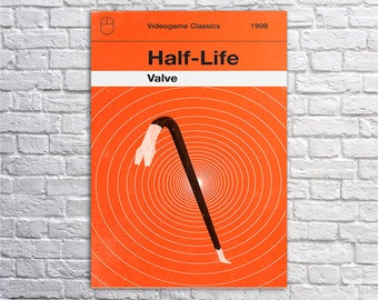 Half life, Half-life art,Gordon Freeman poster, Game wall art, Black Mesa,Olly Moss Art,Gaming Poster,Post Apocalyptic Game print
