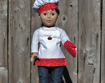 18 inch Doll Clothes Doll Accessories American Made Girls Boys Kid Apron Oven Mitt Baker Hat Doll Clothing Dresses Gifts Under 30 Ready Made