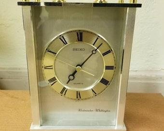 Vintage Seiko Westminster & Whittington  Quartz Mantle Clock