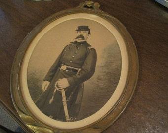 Oval Framed Civil War Picture