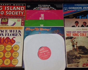 Vintage Estate Vinyl Record Lot Jazz Big Band Swing Polka Banjo Music Collection