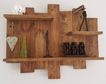 Rustic Wall Shelf - Reclaimed wood- farmhouse shelves - wall decor
