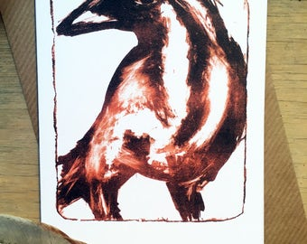 Lithography Bird Greetings Card Hare Raising Designs