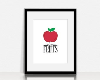 Eat Your Fruits - Wall Art - Digital Instant Download