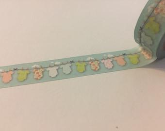 "Baby clothesline washi tape sample 18"""