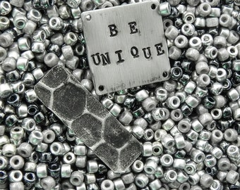 Size 6/0 Matubo Beads of Steel Seed Bead Mix - 16 grams - Beads of Steel Metal 6/0 Matubo Mix - 1768