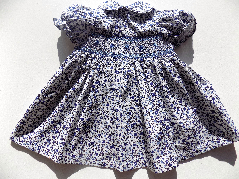 Dress baby girl liberty dress smocked baby dress cotton