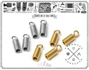 12X4mm 20PCS Crimp Clasp Cord End Fold Over, Ribbon End Crimp, Leather Cord End.