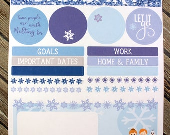 January Notes Page for use with Erin Condren - Winter Frozen Planner Stickers