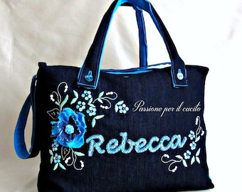 Jeans bag personalized