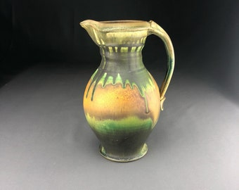 Handmade Pottery Ceramic Pitcher, Stoneware Pitcher, Wheel Thrown Pottery Pitcher, Pitcher2