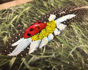 Feather Art, Ladybird and Daisy