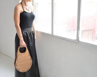 Women's accessories, Wooden Bag, ecofriendly, A Design Award, Favourite Design Award, Fashion, stripes, women's gift, minimal, architectural