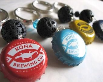Kona Brewing Bottlecap Lava Keychain/Keyring
