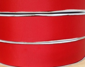 OVERSTOCKED Wholesale Price - 100 yard spool 3/8 Inch Grosgrain Ribbon in Red