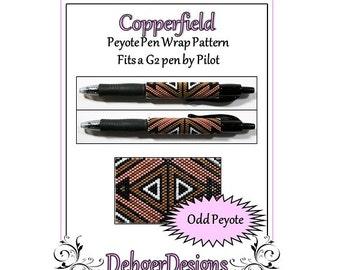Bead Pattern Peyote(Pen Wrap/Cover)-Copperfield