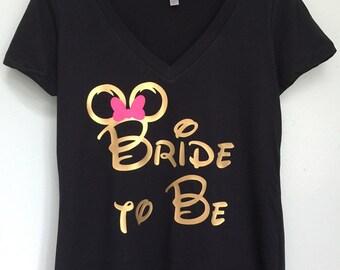 Disney Bride To Be, Disney bachelorette, Disney Minnie Mouse Ears Shirt, Disney bachelorette shirts, Disney bride to be shirt, Minnie Bow T