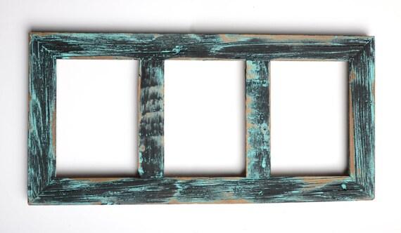 3 orificios de 5 x 7 Collage marco rústico marco-Home Decor
