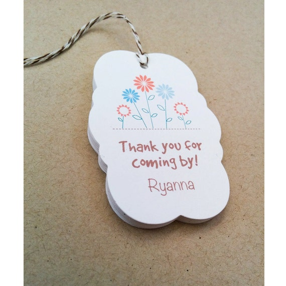 Personalized gift tags spring flower gift tags custom easter 800 negle Images