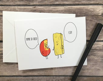 Funny birthday card foodie card hot dog card summer funny cheese blank greeting card queso card funny birthday card pun card bookmarktalkfo Image collections