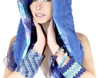 Reversible Chained Festival Hood (3 Variations Available) - Perfect for Festivals, Rave, Edm, Dance, Pole, Lyra, Derby, Outfit