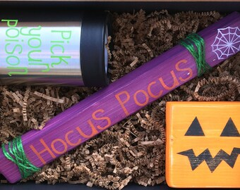 Hocus Pocus // Halloween Gift, Fall Gift, Autumn Gift, Best Friend Gift, Birthday Gift, Home Decor, Fall Decor, Personalized Gift