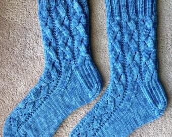 Hand Knit Womens Cashmere-Wool Blend Socks (S-215)
