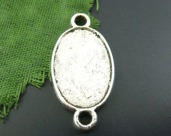 1 oval connector two holes for 13 * 25 mm cabochon