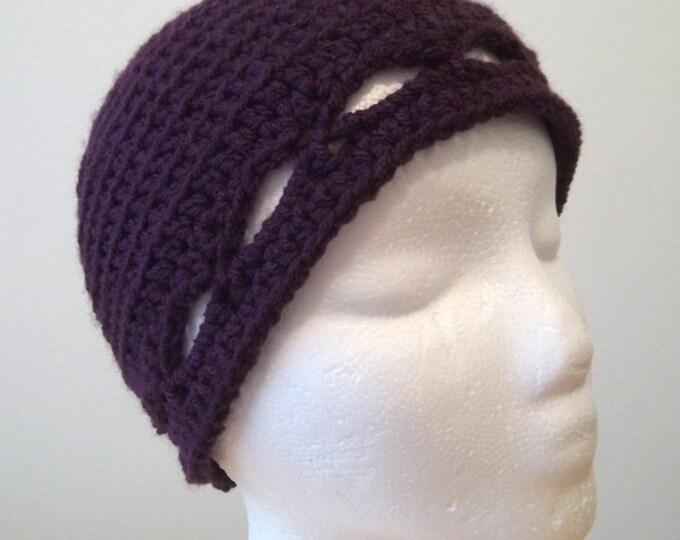 Hat - Crochet Clochet for Spring - Color Eggplant