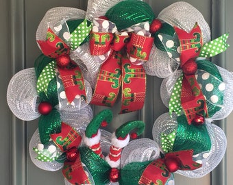 Disappearing Elf Wreath