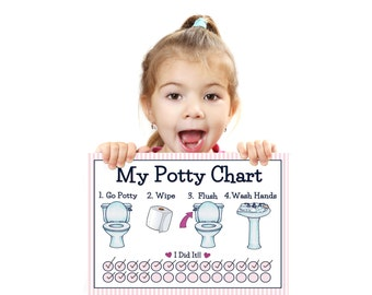 PRINTABLE- GIRLS- POTTY Training Chart- Young Child/Toddler Potty Chart