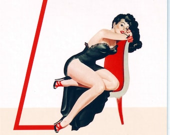Z is for Zipper Pin-Up Girl Poster