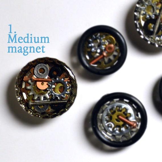 Bicycle gear magnets, hardware, bottle cap magnet, medium magnet