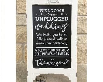 Unplugged Ceremony Sign, Unplugged Wedding Sign, Unplugged Ceremony Sign Rustic, Unplugged Ceremony Sign Wood, Unplugged Ceremony Wedding