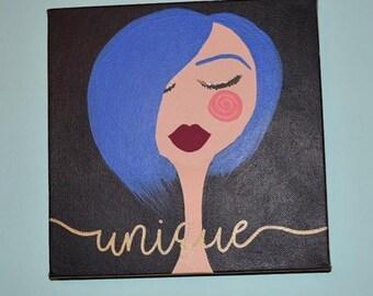 UNIQUE Original Woman Painting, Small