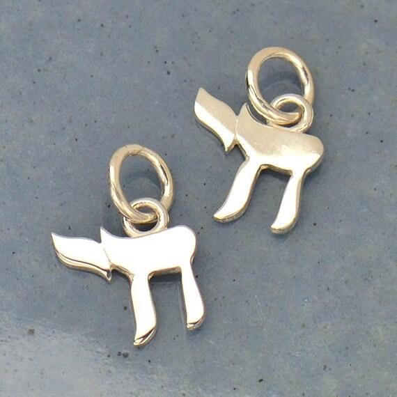 Sterling Silver Chai Life Symbol Chai Life Charm Jewish