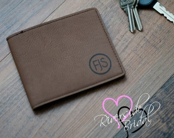 Groomsmen Gift, Personalized Leather Wallet, Personalized Wallet, Custom Leather Wallet, Engraved Leather Wallet, Groomsmen Gifts, Bi Fold