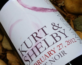 CUSTOM WINE LABELS -  personalized for wedding labels, anniversary, or special vintages