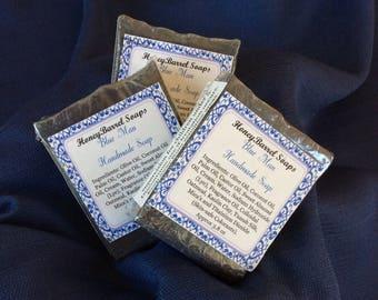 Blue Man Handmade Soap, Men's Soap, Artisan Soap, Soap, Milk Soap, HoneyBarrel Soaps.