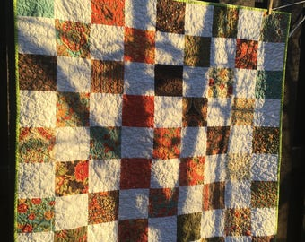 Baby quilt, wall quilt, shower gift, lap quilt