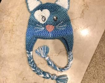 Custom Kitty Cat Earflap Hat