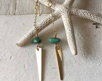 Turquoise Geo Earrings
