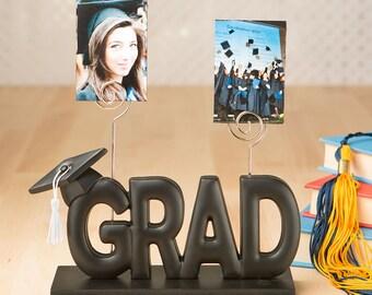 Graduation Photo Holder Cake Topper, Grad Cake Top Decoration, Graduation Cake Topper Holds  Your Photos