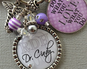 rn nurse, Do what you love PERSONALIZED Keychain, nurse graduate, RDH, dental hygienist graduate, x-ray technician, paramedic, NICU nurse